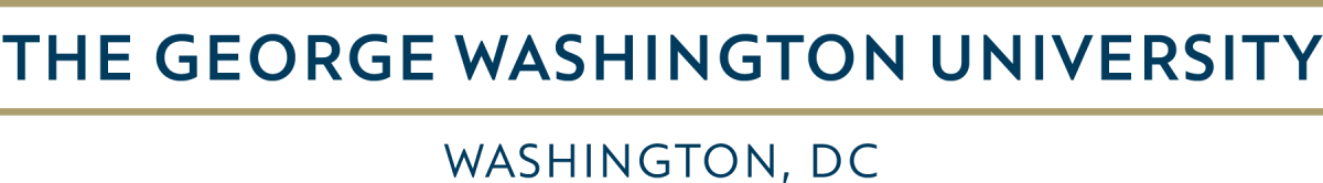 The George Washington University Horizontal Logo