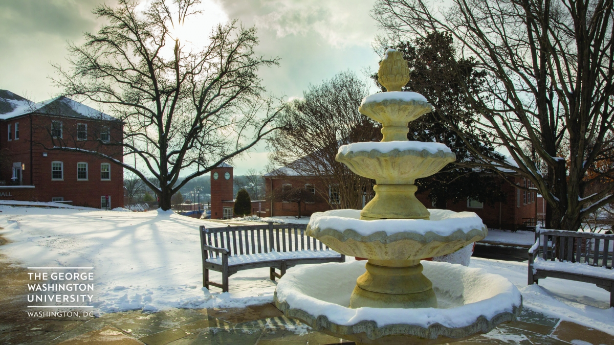 Fountain on mount vernon campus