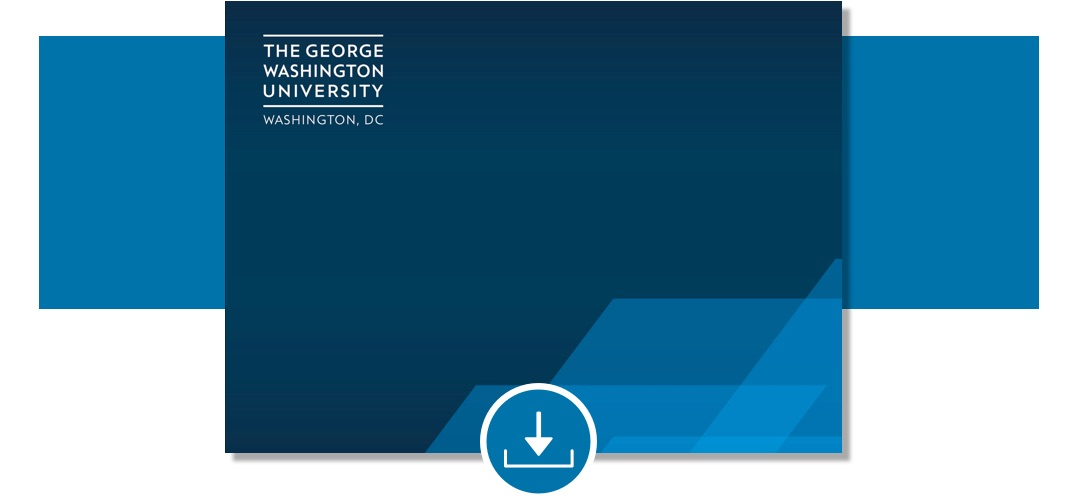 "General GW powerpoint template with ""The George Washington University"""