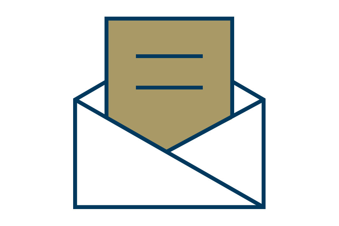 illustration of an envelope with a message